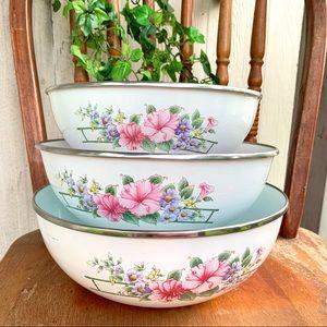 Vintage Enamelware mixing bowls